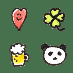อิโมจิไลน์ smaile-heart & simple emoji