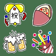 อิโมจิไลน์ Celebration and lucky emoji