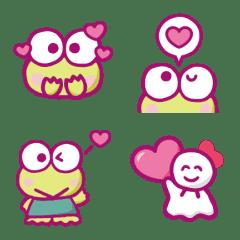 大眼蛙 表情貼(愛心篇)