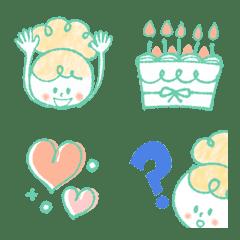 อิโมจิไลน์ Mint Celebration Girly Emoji