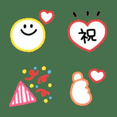 อิโมจิไลน์ colorful everyday Emoji (6)