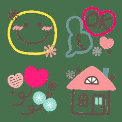อิโมจิไลน์ Simple Colorful Northern Europe Smile