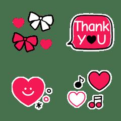 อิโมจิไลน์ RED and BLACK Kawaii Emoji