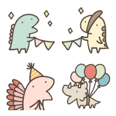 อิโมจิไลน์ Cute Dinosaurs -Celebration-