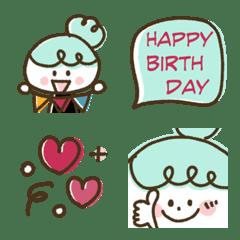 อิโมจิไลน์ Mint girly celebration emoji
