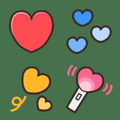 kabiemoji colorful heart emoji