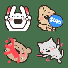 kabiemoji fan animal emoji