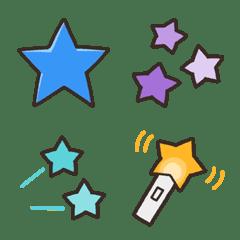 kabiemoji colorful star emoji