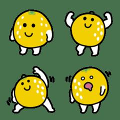อิโมจิไลน์ Sour grapefruit Emoji