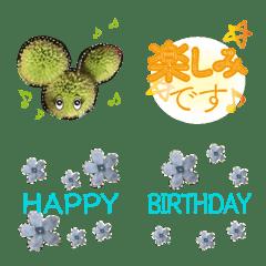 อิโมจิไลน์ Celebrate and talk with cute flower foto