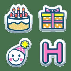 อิโมจิไลน์ PUKUPUKU-Happy birthday Emoji