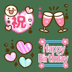 อิโมจิไลน์ Simple smile emojis 27