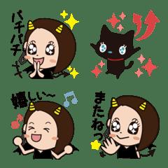 อิโมจิไลน์ Little devil's work and everyday emoji
