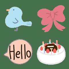 simple emoji  pastel color