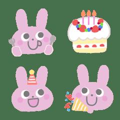 Dull color  Rabbit Emoji (1)