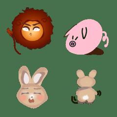 BOBO 獅 and Zanzan 兔 表情貼