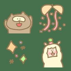 อิโมจิไลน์ Happy lovely alpaca everyday celebration