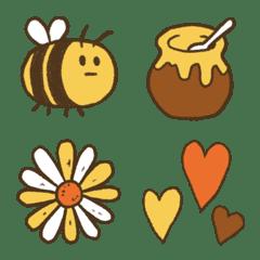 อิโมจิไลน์ อีโมจิผึ้งสี่สี