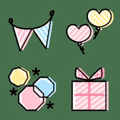 อิโมจิไลน์ simple celebration Emoji