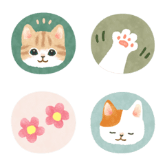 Cat illustration Emoji (seal style)