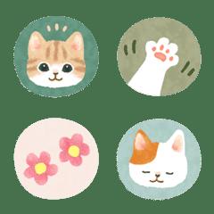Cat illustration Emoji (seal style)