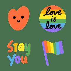 慶祝彩虹驕傲表情貼