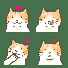 อิโมจิไลน์ Festive emoji of plump cat