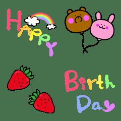 อิโมจิไลน์ Colorful Celebration