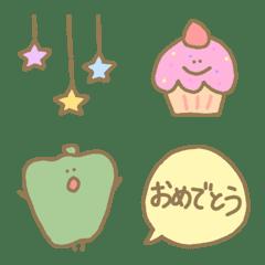 อิโมจิไลน์ Cute kawaii useful everyday celebration