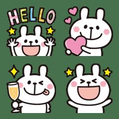 อิโมจิไลน์ Adult cute rabbits Emoji 10