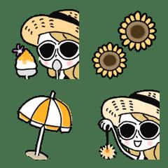 Adult girly fashionable emoji [Straw]