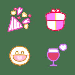 อิโมจิไลน์ Simple celebration