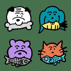 Funny pug and friends Emoji 2