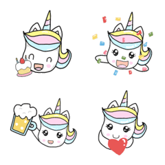 Unicorn Jija Celebration Emoji