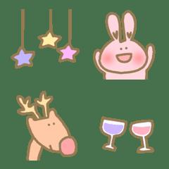 อิโมจิไลน์ Happy animal mix cute kawaii everyday