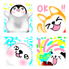 อิโมจิไลน์ Animal penguin celebration collection 5