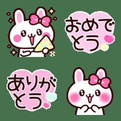 อิโมจิไลน์ Cute girl rabbit 4