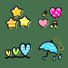 อิโมจิไลน์ colorful cute symbol Emoji