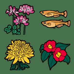 อิโมจิไลน์ Japanese seasonal flowers