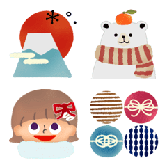 Emoji like a picture book / New Year's