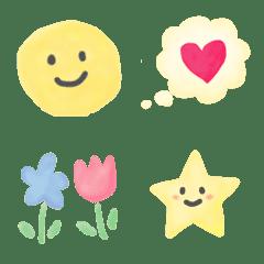 อิโมจิไลน์ Colorful cute watercolor emoji