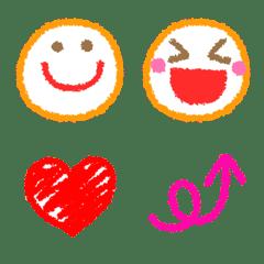 Easy to use! Crayon style Emoji