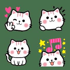 อิโมจิไลน์ Cute Cat Nekunya Simple Emotions Emoji
