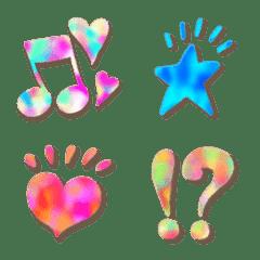 อิโมจิไลน์ Heart,star,marble color painting