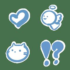 Blue emoji.