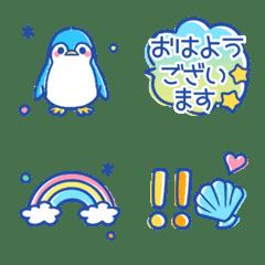 summer style penguin emoji