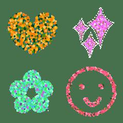 Crushed colors Emoji FLOWER