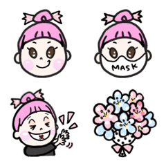 Candy girl Emoji 2