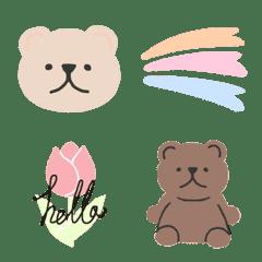 natural bear emoji