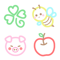 อิโมจิไลน์ * Pastel Emoji 3 *